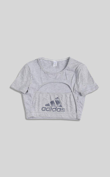 Vintage Rework Adidas Cut Out Tee - XS