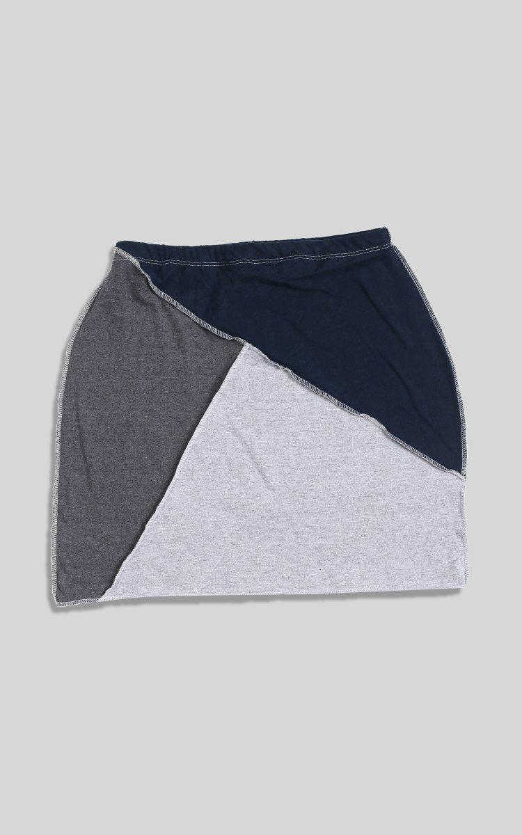 Rework Nike Patchwork Skirt - M