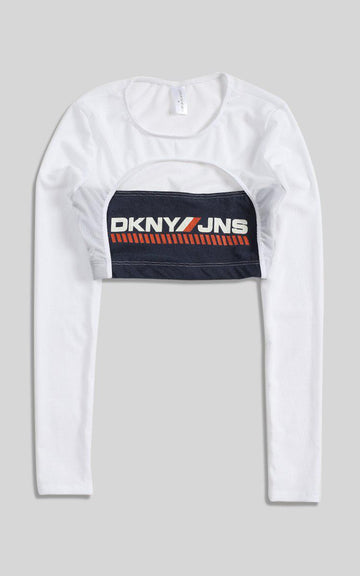 Vintage Rework DKNY Cut Out Long Sleeve Tee - S
