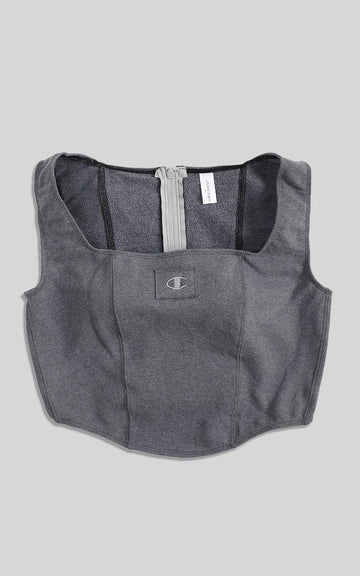 Rework Champion Sweatshirt Bustier - XL