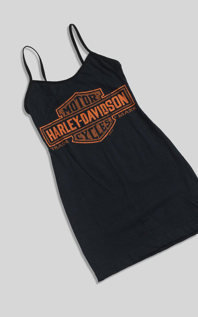 Vintage Rework Harley-Davidson Dress