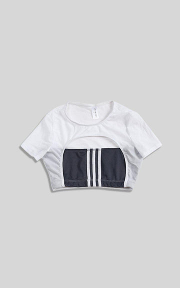 Vintage Rework Adidas Cut Out Tee - M