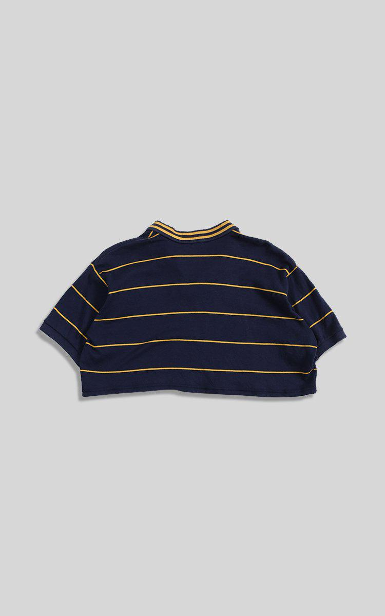 Vintage Polo Crop Collard Tee