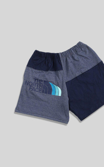 Vintage Rework North Face Patchwork Tee Shorts - S