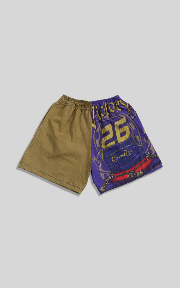 Vintage Rework Racing Patchwork Tee Shorts  - XS