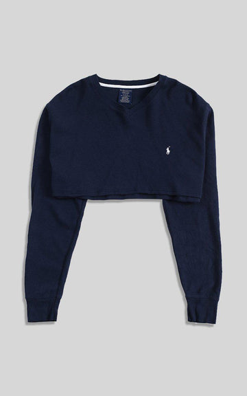Vintage Polo Crop Long Sleeve