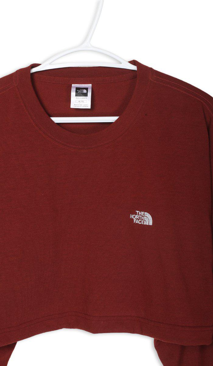 Vintage North Face Crop Long Sleeve Tee