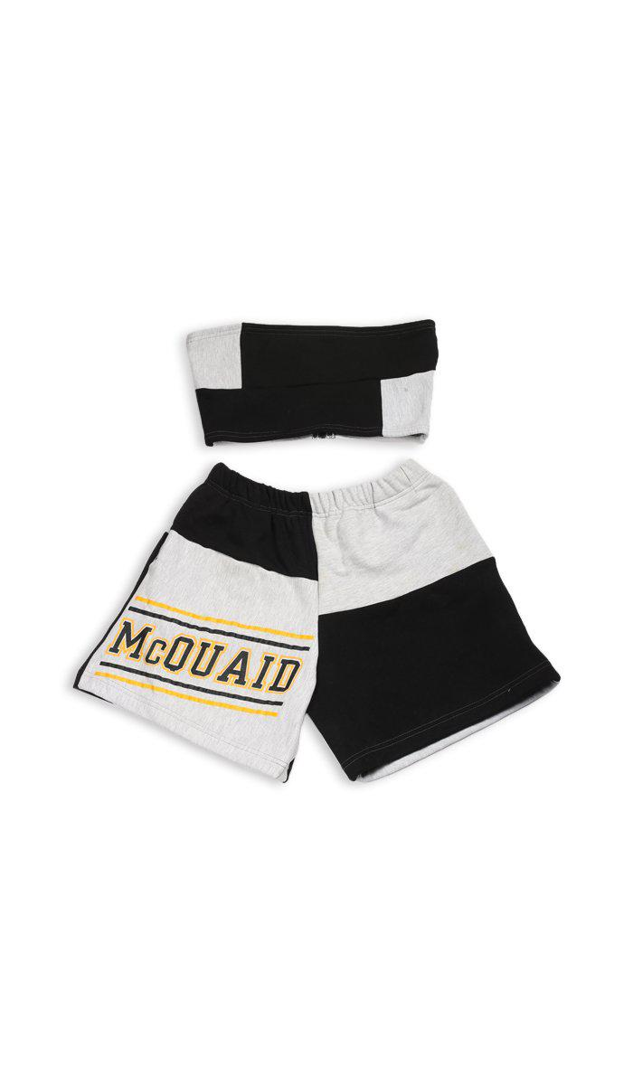 Vintage Rework Patchwork Sweatshorts Set - L
