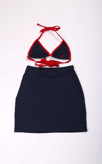 Vintage Rework Polo Skirt Set - XS, S