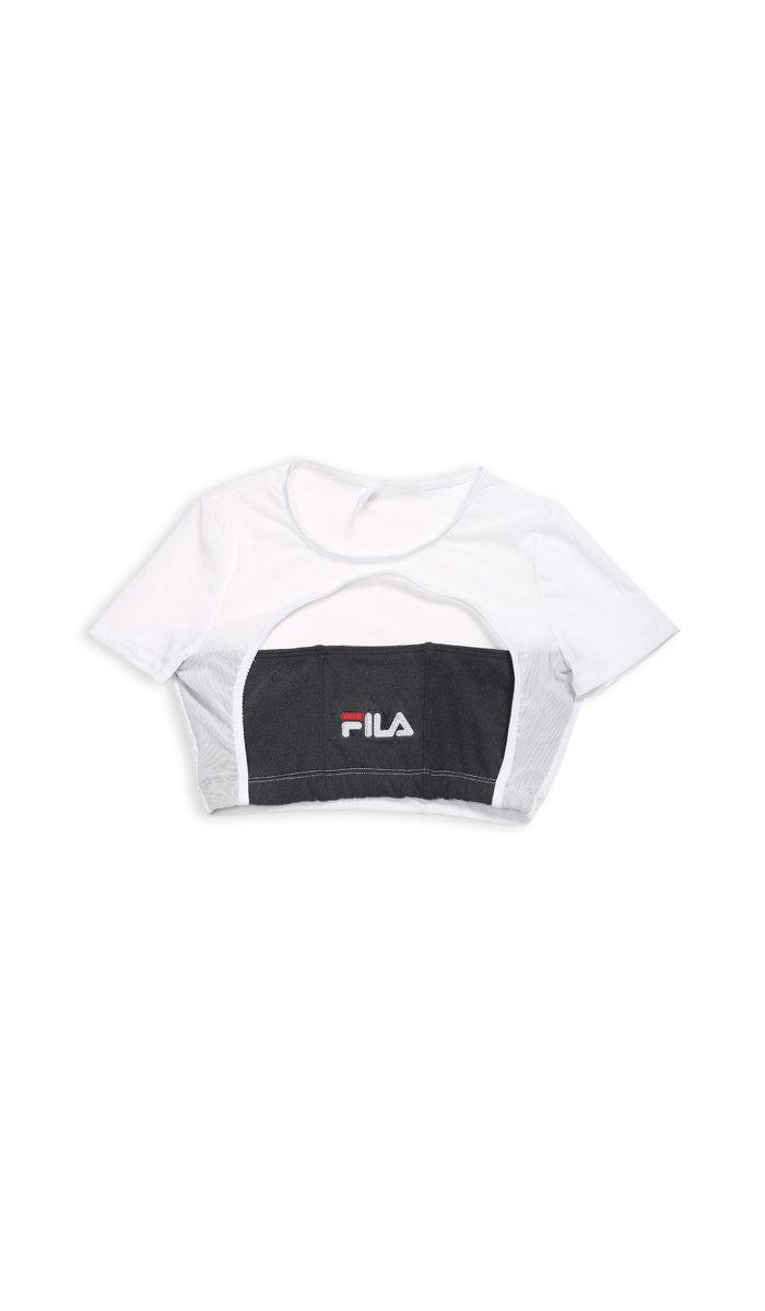 Vintage Rework Fila Mesh Cut Out Tee