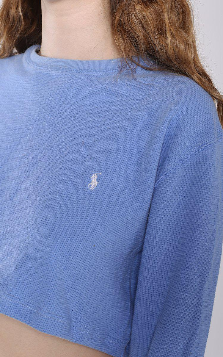 Vintage Polo Long Sleeve Crop Tee