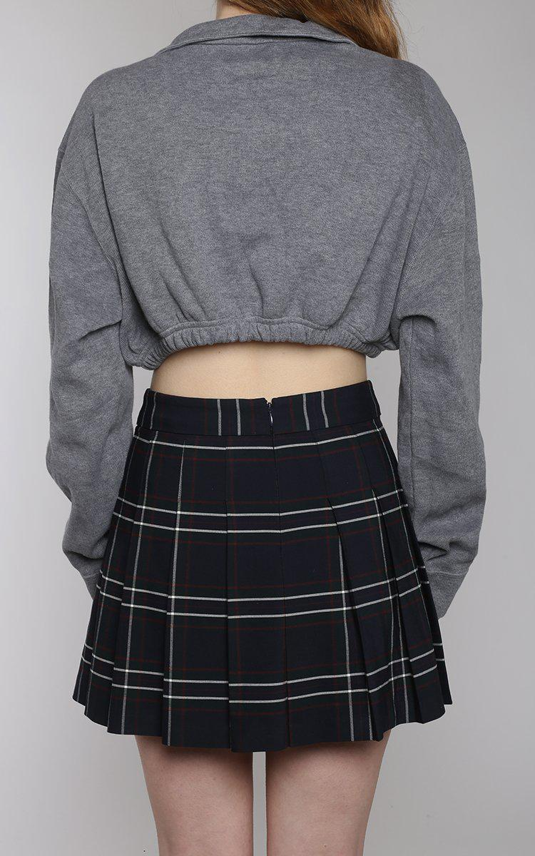 Vintage Rework Polo Crop Sweatshirt