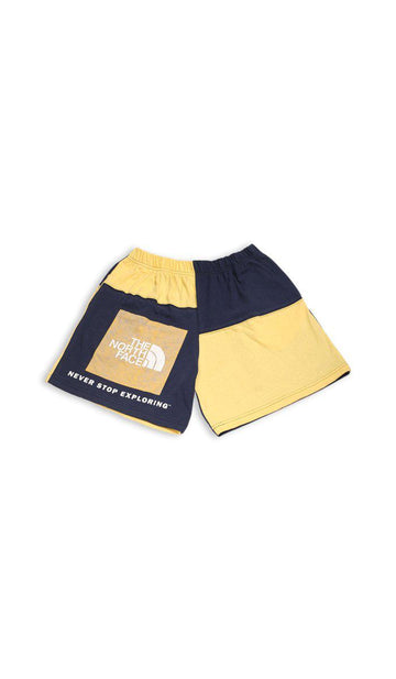 Vintage Rework North Face Patchwork Tee Shorts - M