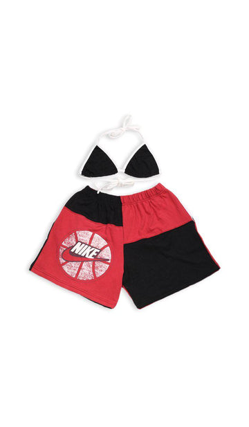 Vintage Rework Nike Patchwork Tee Shorts Set - M