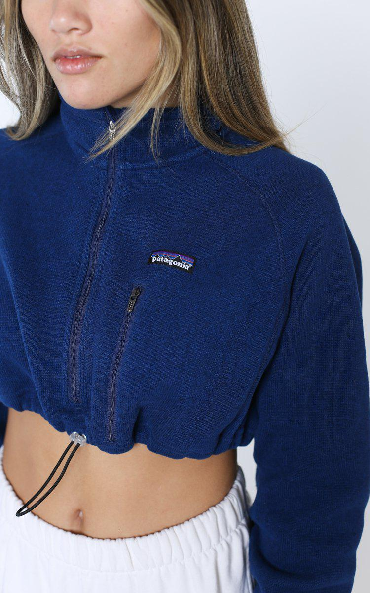 Vintage Rework Patagonia Cinched Crop Fleece