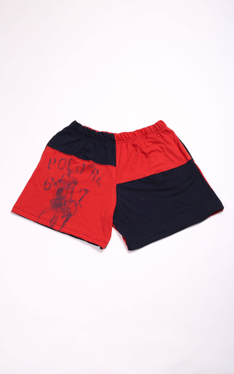 Vintage Rework Polo Patchwork Tee Shorts - L