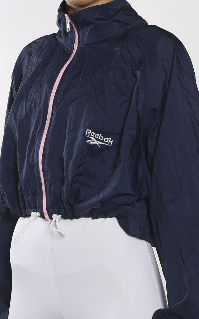 Vintage Rework Reebok Crop Cinched Windbreaker