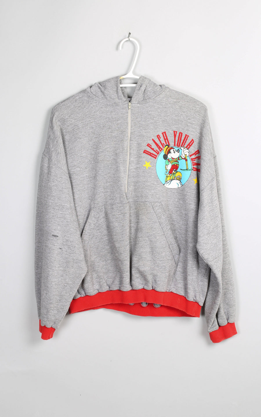Vintage Mickey Mouse Zip Up Sweatshirt