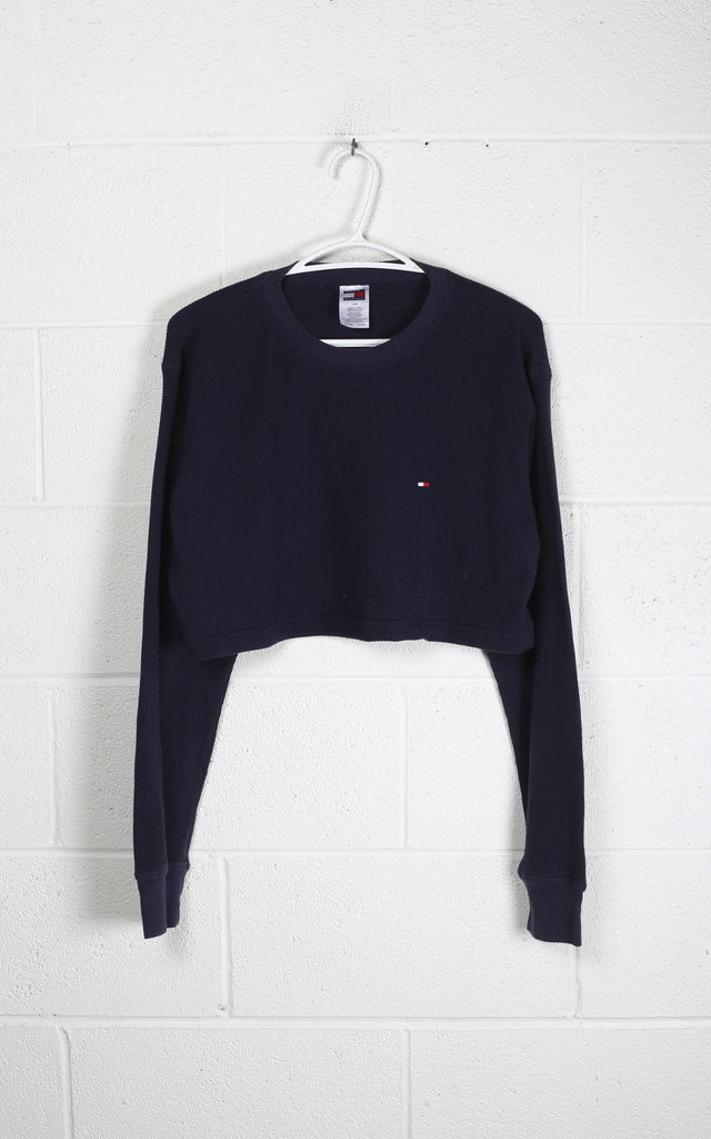 Vintage Tommy Crop Long Sleeve Tee
