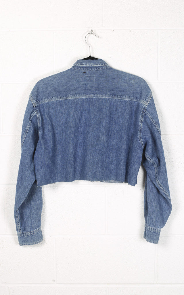 Vintage Calvin Klein Crop Denim Shirt