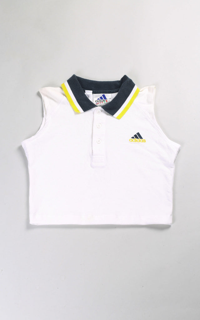 Vintage Rework Adidas Crop Collared Tank - S
