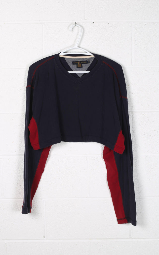 Vintage Tommy Cropped Long Sleeve Tee