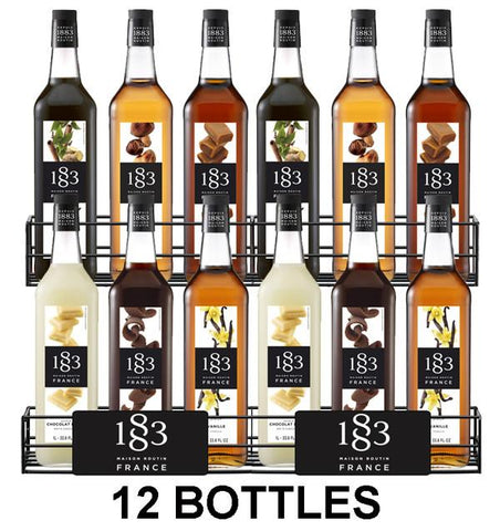 Mixed Case of 12 Routin 1883 syrups