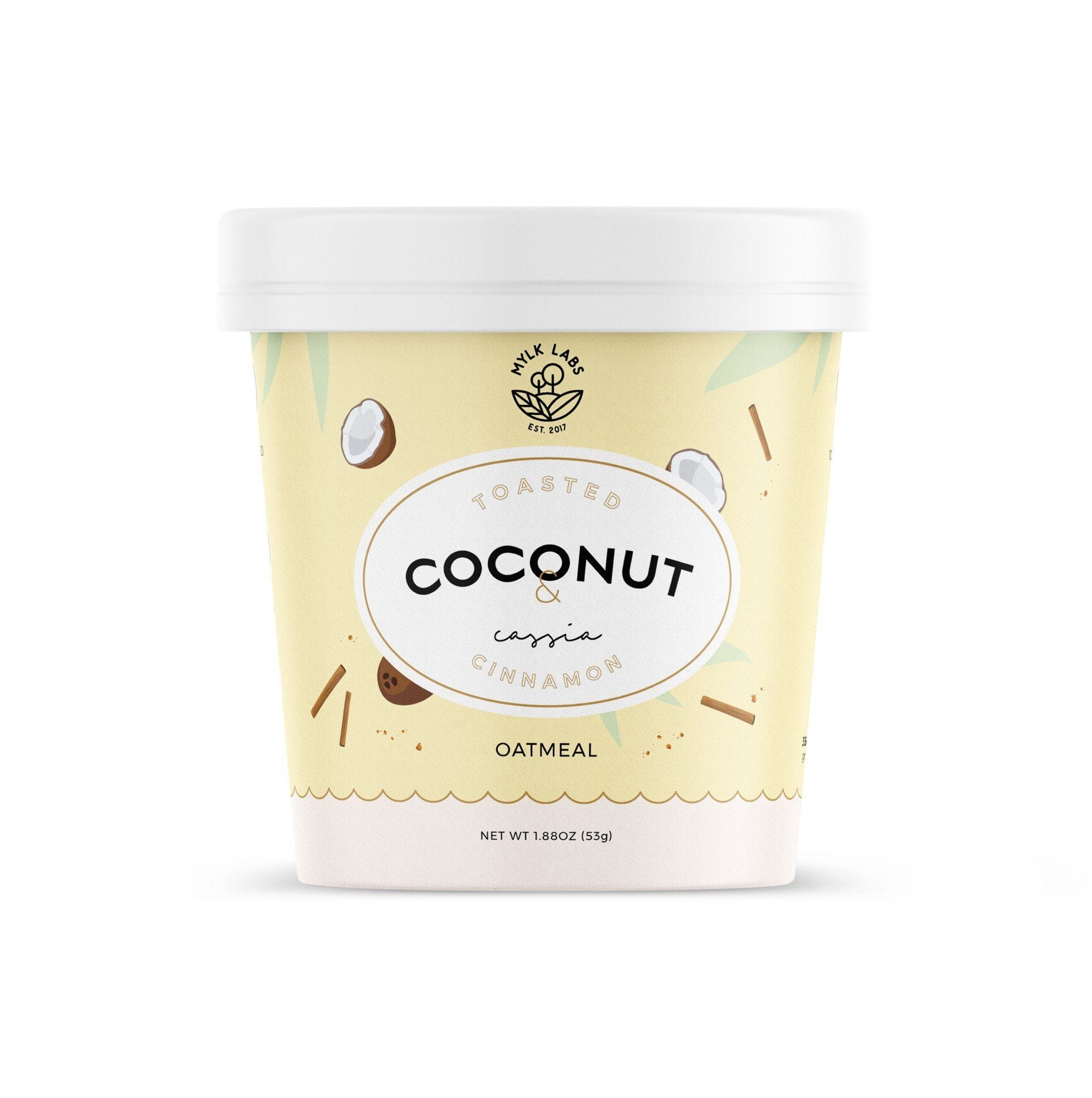 Mylk Labs Toasted Coconut & Cassia Cinnamon Oatmeal Cup