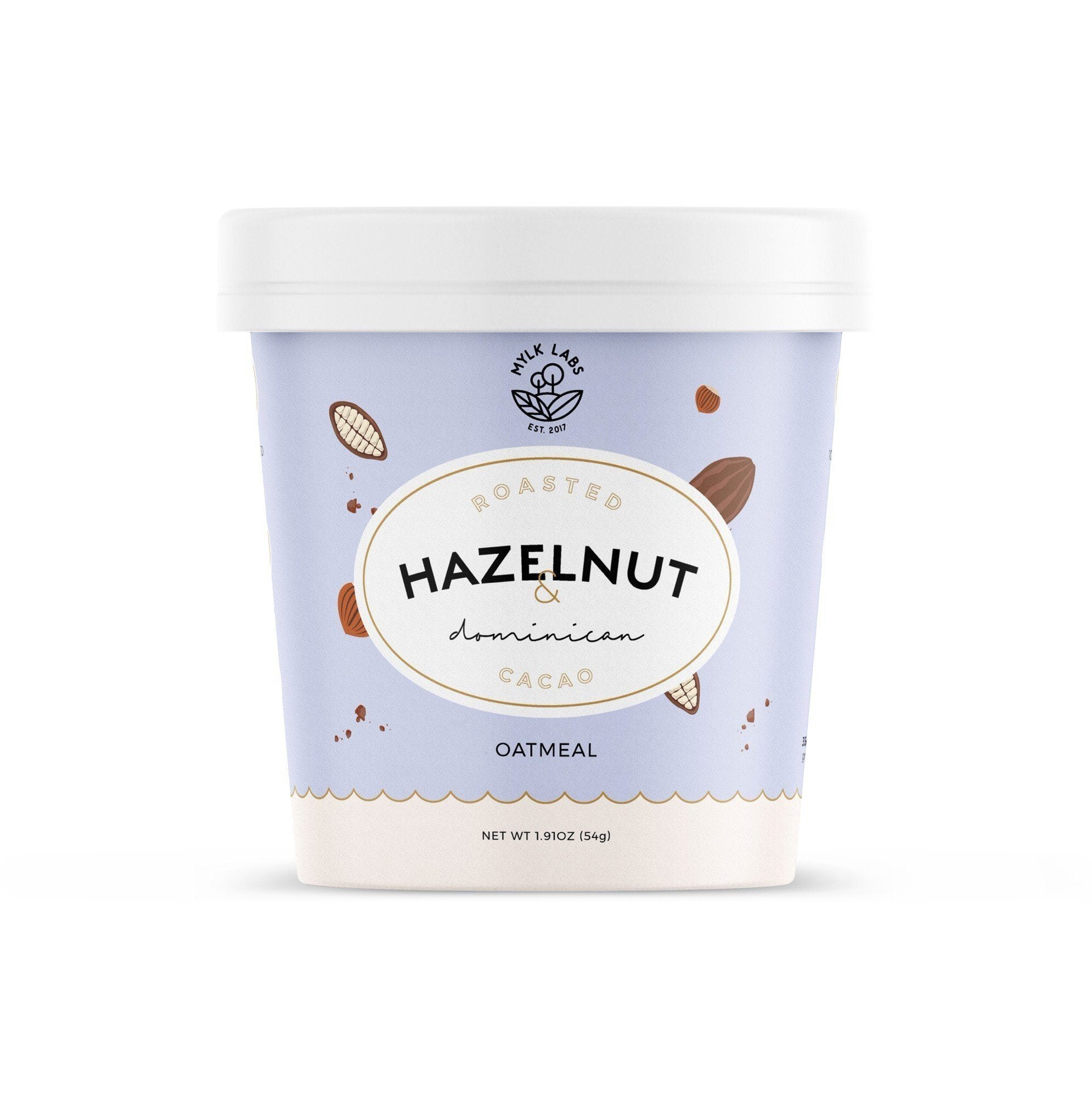Mylk Labs Roasted Hazelnut & Dominican Cacao Oatmeal Cup