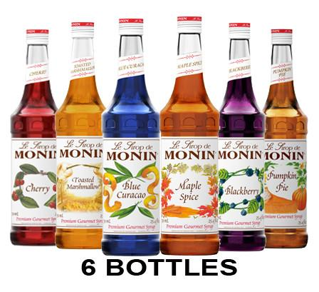 Mixed Case of 6 Monin Syrups