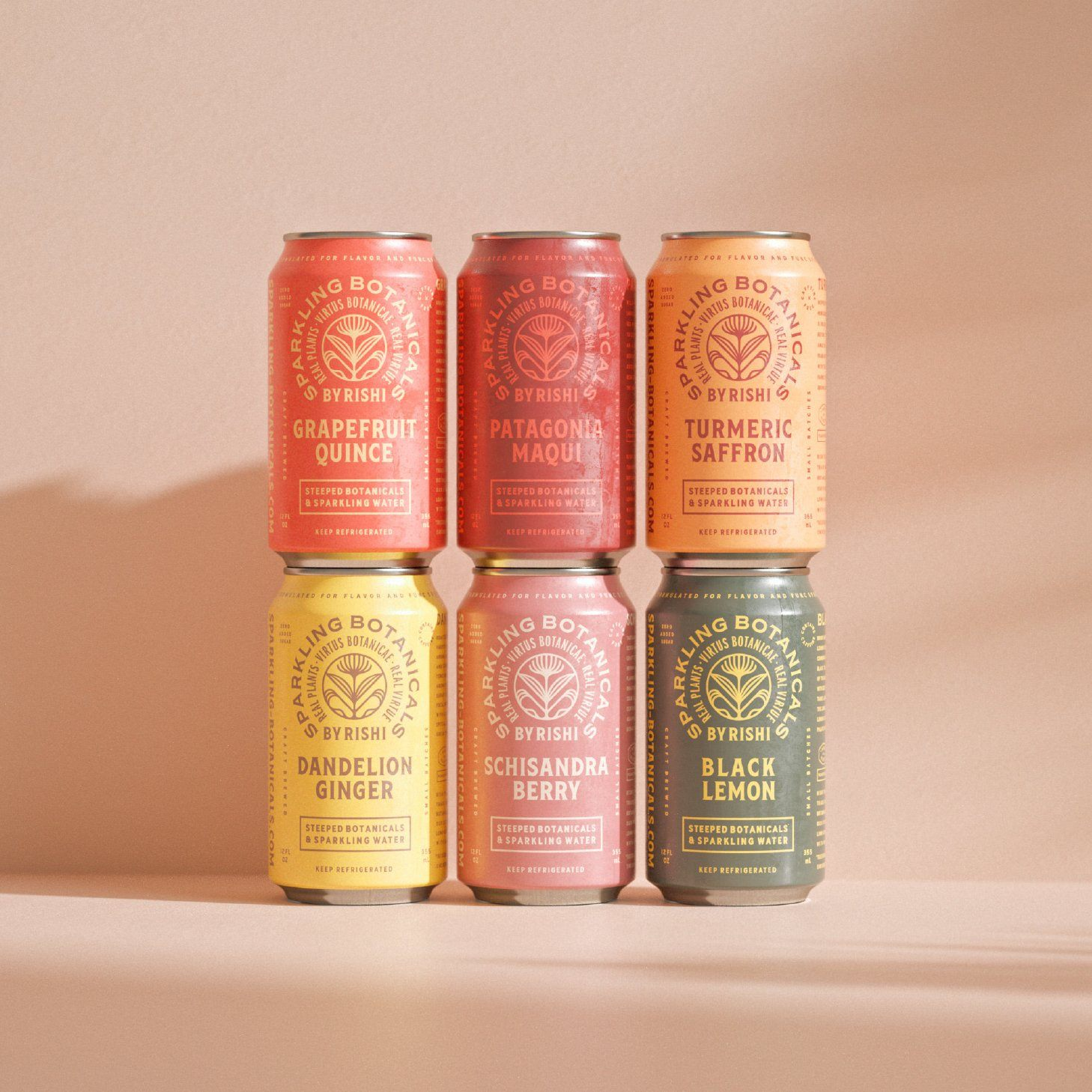 Rishi Sparkling Botanicals - 2 Cases of 12oz cans *Free Shipping*