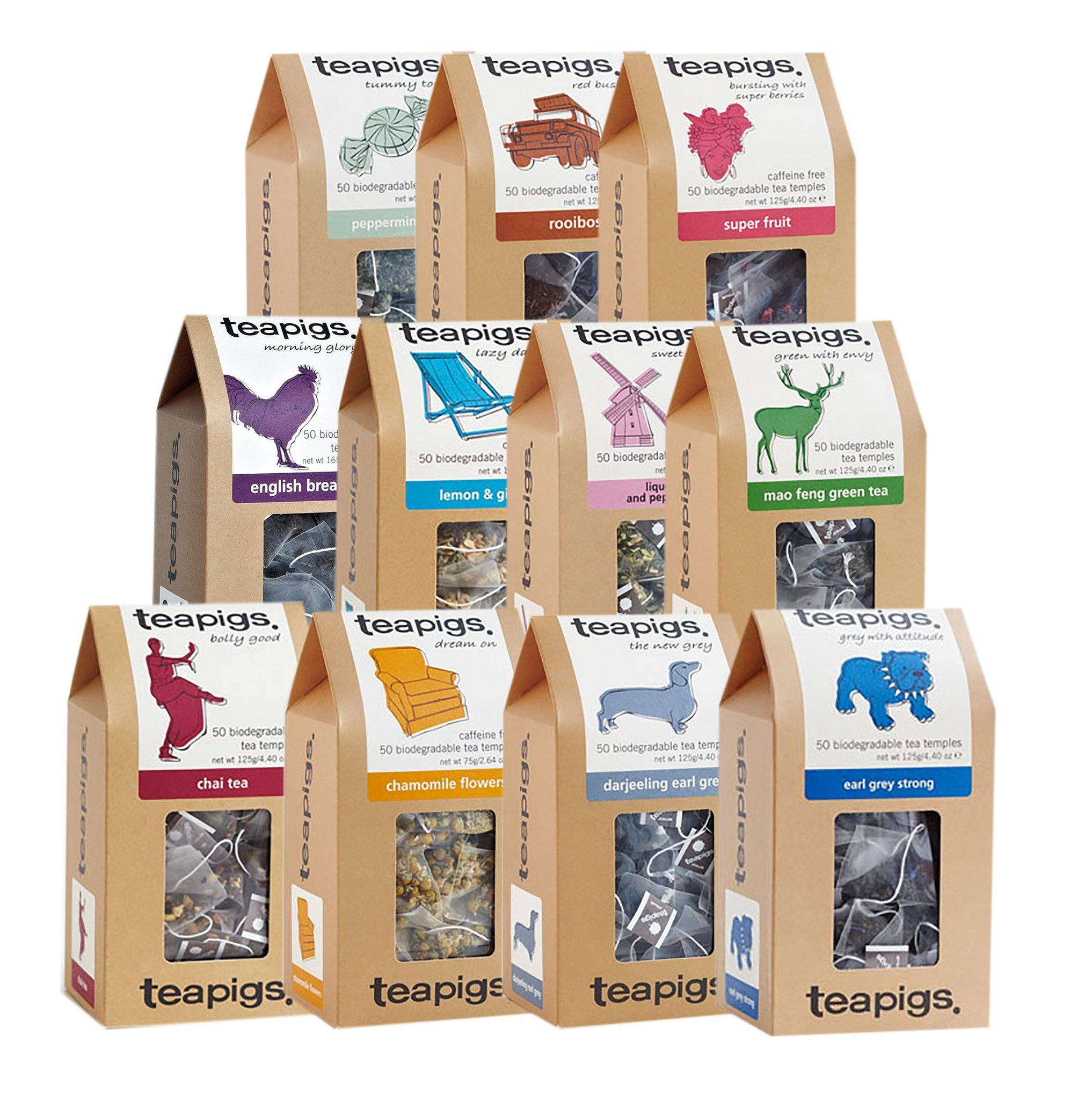 TeaPigs Mixed Case of 6 - 50ct Boxes