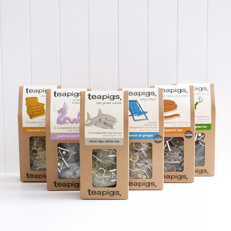 TeaPigs Mixed Case of 6 - 15ct Boxes