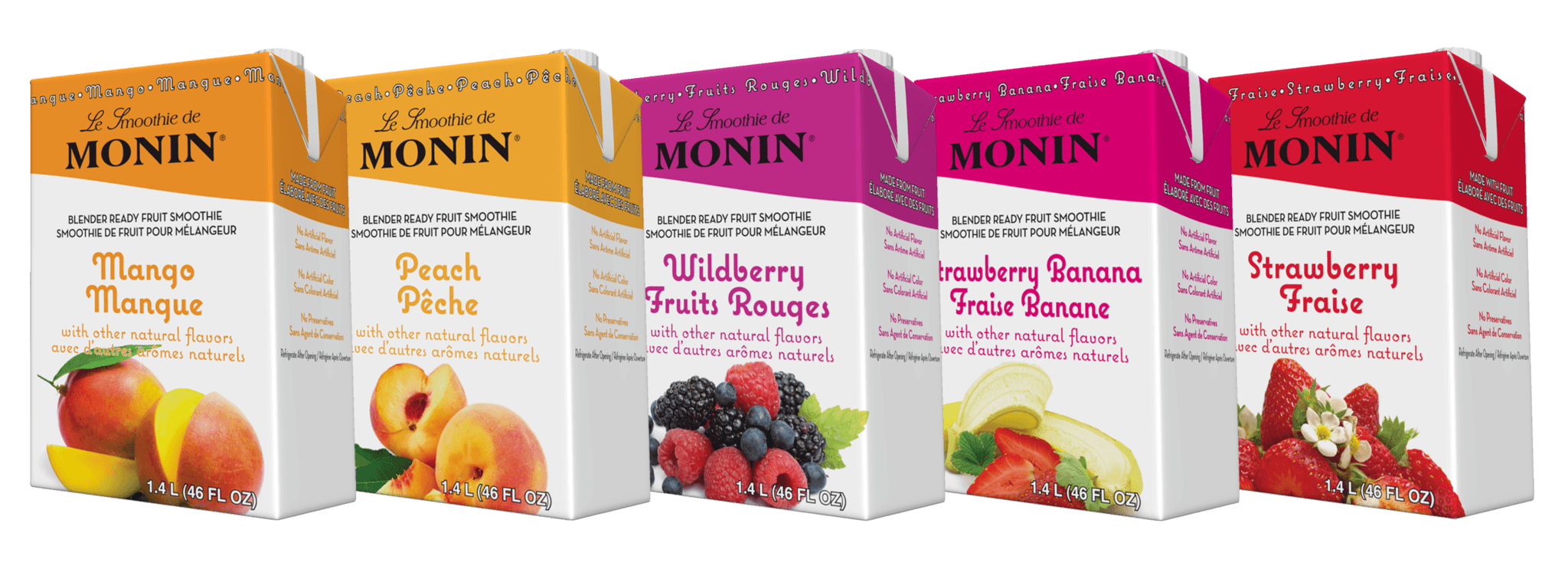 Mixed Case of Monin Smoothie