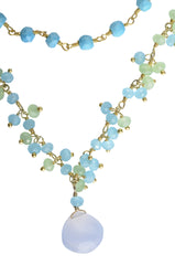shades of blue and green necklace