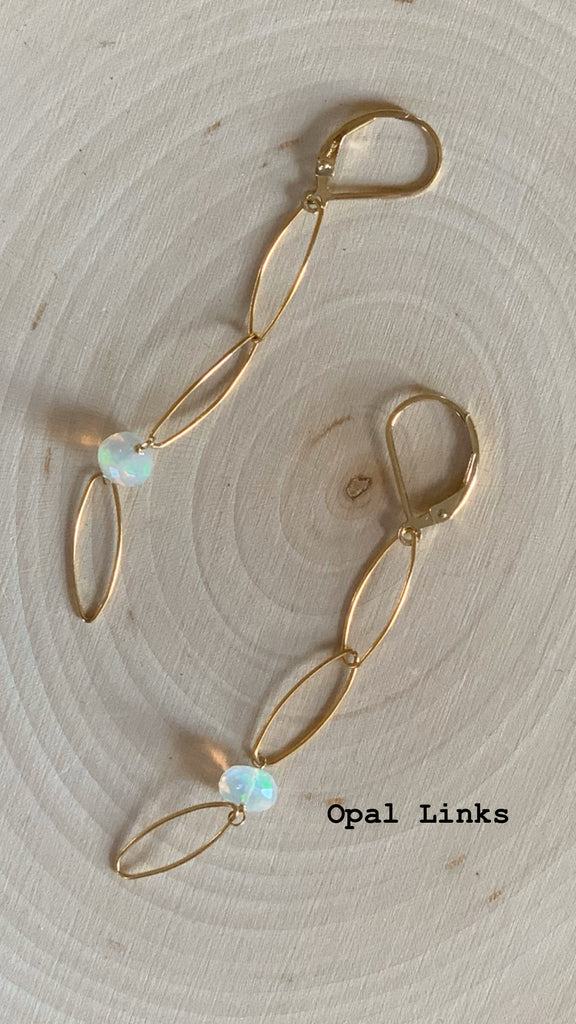 Opal Links Earrings