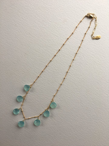 Aqua bleu necklace