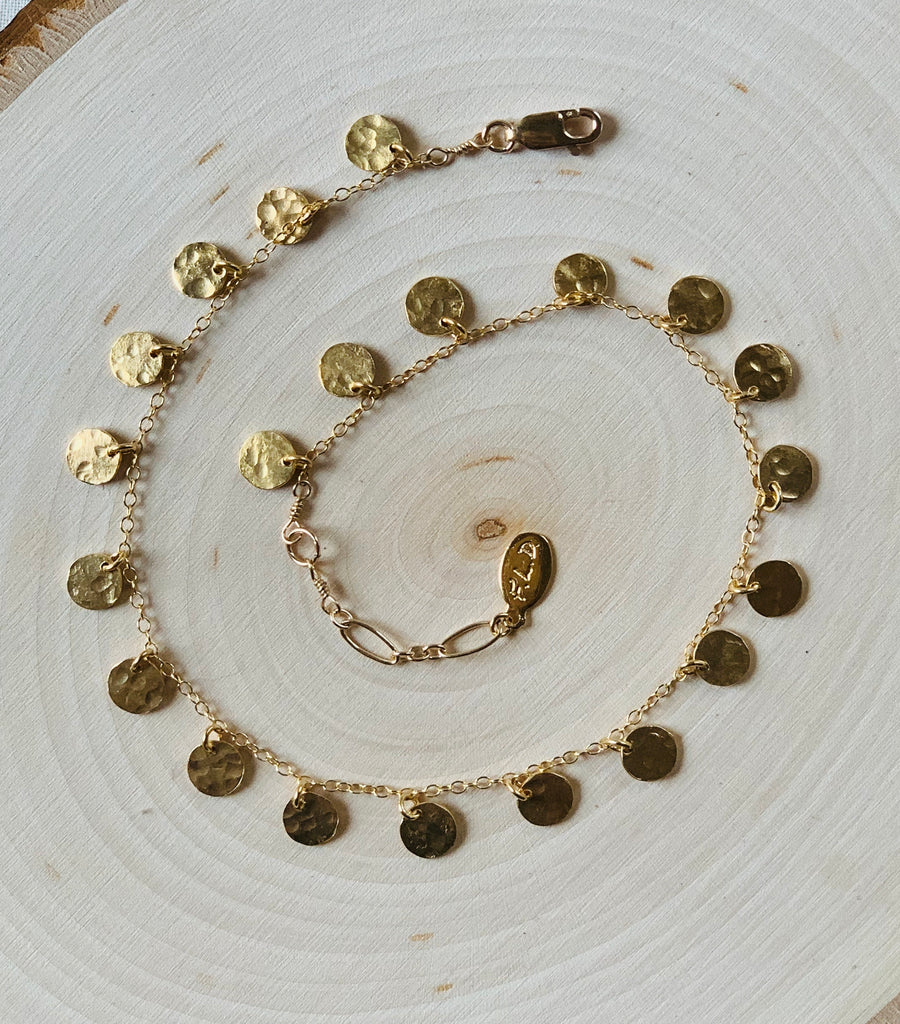 Golden Disc Anklet