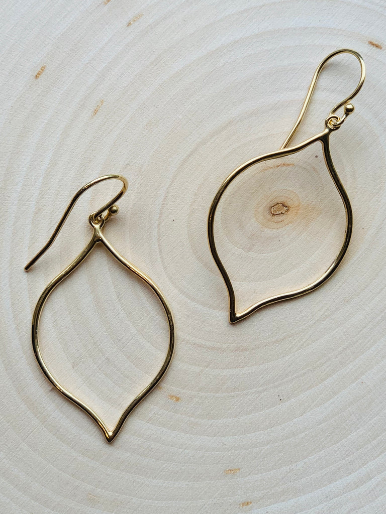 Golden Leafy Hoops