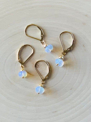 Opal Wheel Earrings