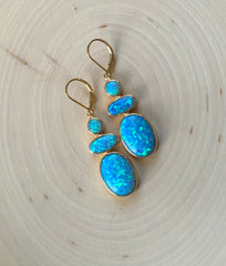 Caribbean Blue Opal Earrings
