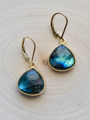 Medium Labradorite Earrings
