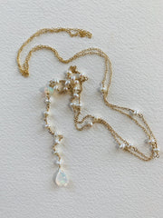 Pearl and Opal Lariat