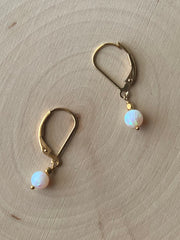 Round Opal earrings