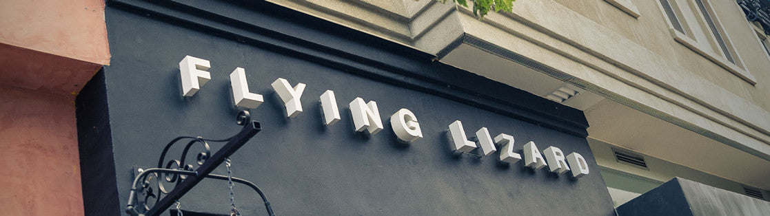 Flying LIzard Jewelry Design Store Sign