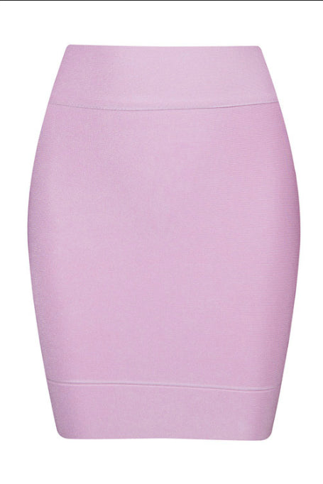 Solid Work - Mini Bandage Skirt - Pink