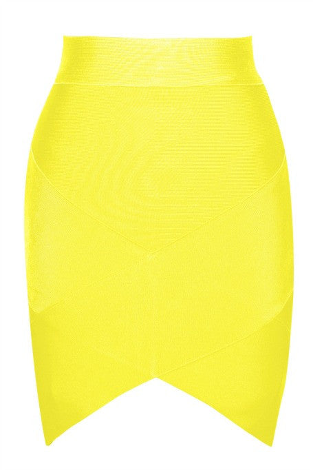 Mini Bandage Skirt - Yellow