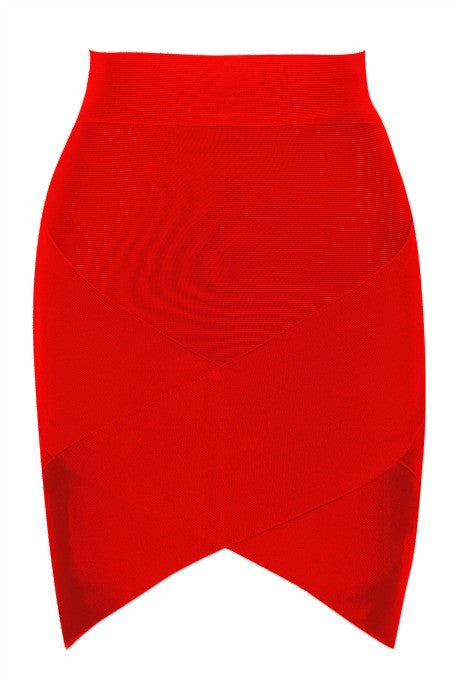 Mini Bandage Skirt - Red