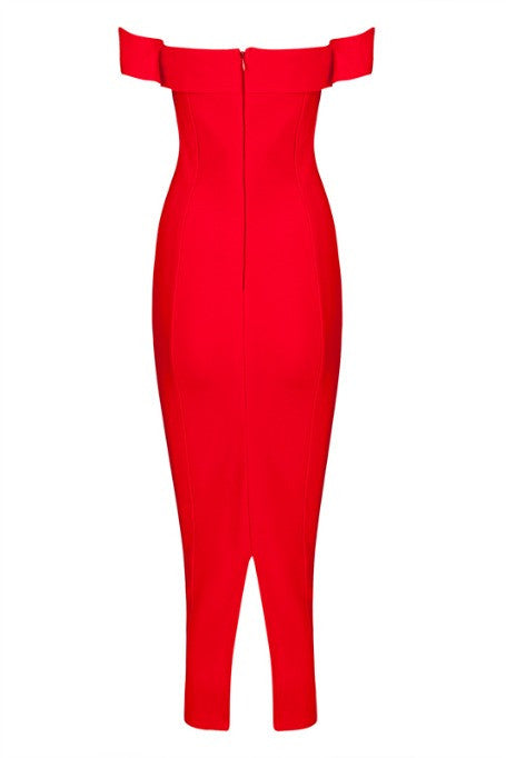 Be My Date - Bandage Dress - Red
