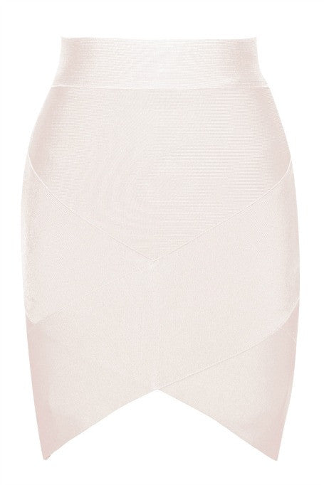 Mini Bandage Skirt - Nude